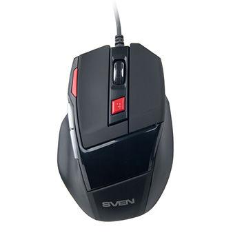 Mouse SVEN GX-970 Gaming, Optical Mouse, 800/1200/1600/2000 dpi, Keys 6, USB, Black