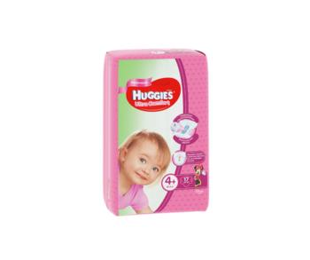 купить Подгузники для девочек Huggies Ultra Comfort Small 4+ (10-16 kg), 17 шт. в Кишинёве