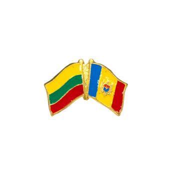 cumpără Insignă - Drapel Lituania & Moldova în Chișinău
