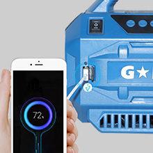 купить Переносной насос + фонарь 12В -20В Galaxia 94401A, без аккум. и зарядного устройства в Кишинёве