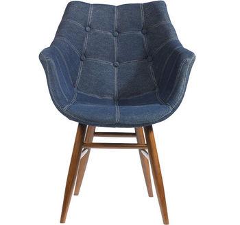 Пластиковый стул, мягкий с деревянными ножками 680x600x660 мм / 510x490x840 мм