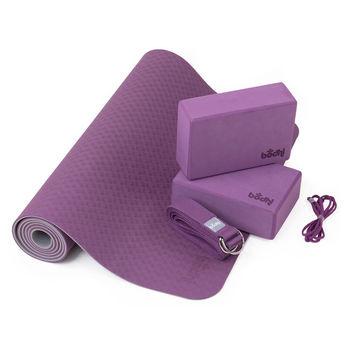 купить Коврик для йоги Bodhi Yoga Yoga Set Flow 183x60x0.5cm, 888BL в Кишинёве
