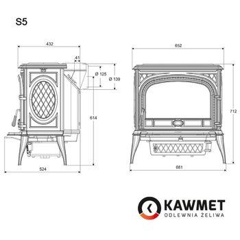 купить Печь чугунная KAWMET Premium S5 11,3 kW в Кишинёве