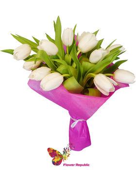 купить Букет из  Кремовых тюльпанов в Кишинёве