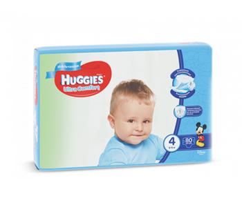 cumpără Huggies scutece Ultra Comfort 4 pentru băieței, 8-14kg, 80 buc. în Chișinău