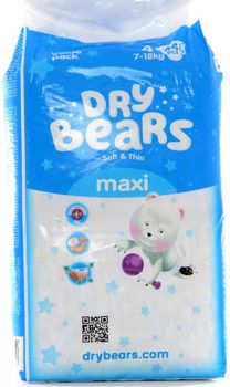 купить Dry Bears Soft&Thin Maxi 4 (7-18 кг.) 44 шт. в Кишинёве