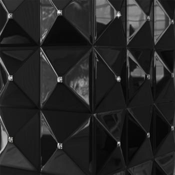 Биокамин - EGZUL черный глянцевый с кристаллами Swarovski напольный