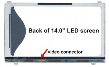 """Display 14.0"""" LED Slim 40 pins HD (1366x768) Brackets Up-Down Matte LTN140AT2"""
