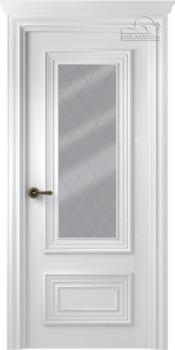 купить Дверь ПАЛАЦЦО 2 эмаль белый остекленная в Кишинёве
