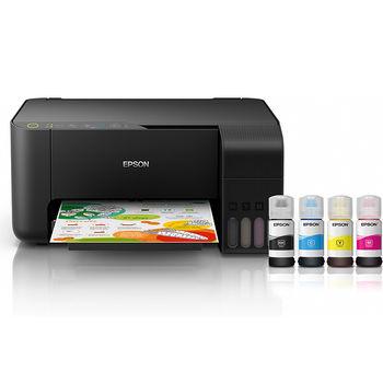 Epson EcoTank L3150 Color Printer/Copier/Color Scanner, WiFi & WiFi Direct, A4, 5760 x 1440 dpi, 33 ppm monochrome/ 15ppm color, USB 2.0, Black ink (8100 pages 5%), color ink (6500 pages 5%), no cable USB www