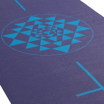 Коврик для йоги Leela Collection Yantra  blue