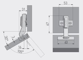 Balama 30° cu amortizor GTV