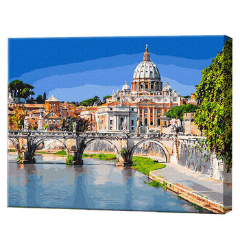 Вид на Базилику Св. Петра с реки, 40х50 см, картина по номерам Артукул: GX28759