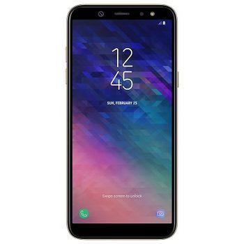"Samsung Galaxy A6 (2018) 32GB EU Gold, DualSIM, 5.6"" 720x1480 Super AMOLED, Exynos 7870 Octa, Octa-Core 1.6GHz, 3GB RAM, Mali-T830 MP1, microSD (dedicated slot), 16MP/16MP, LED flash, 3000mAh, WiFi-N/BT4.2, LTE, Android 8.0"