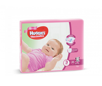 купить Huggies подгузники Ultra Comfort 3 для девочек, 5-9кг. 94шт в Кишинёве