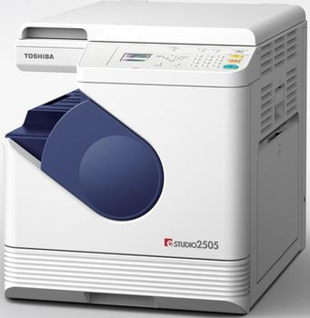 MFD Toshiba E-STUDIO 2505, Mono Printer/Copier/Color Scanner, A4/25ppm,A3/14ppm*(optional),128Mb,2400x600 dpi,25–400%,52-163г/м2,Scan 600x600dpi, Paper Input: 250+50-sheet tray, USB 2.0, Max.55k pages per month,Toner T-2505E (12k pag / Starter 6k 5%)