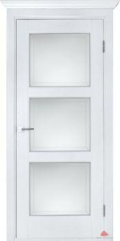 купить Дверь ЛЕСТНИЦА белый ясень остекленная в Кишинёве