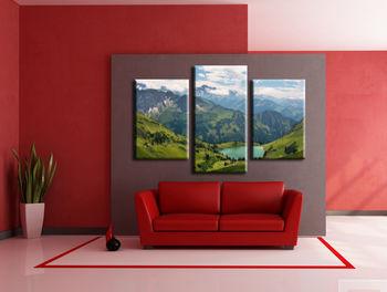 Картина напечатанная на холсте - Картина Триптих Природа 0002 / Печать на холсте