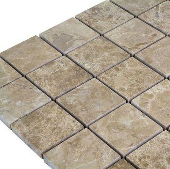 купить Мозаика Мраморная Светлая Император Полисата 4,8 х 4,8 см в Кишинёве