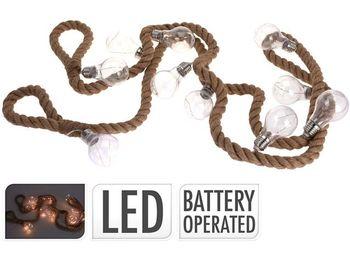 Гирлянда LED 10 ламп тепл.-бел., на батарейках