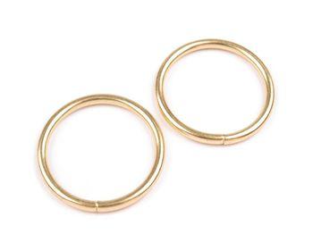 Inel metalic, Ø30 mm, auriu