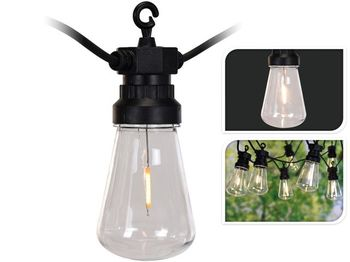Гирлянда LED 10 ламп для освещения дома 10шт 7.5м, лампа А60