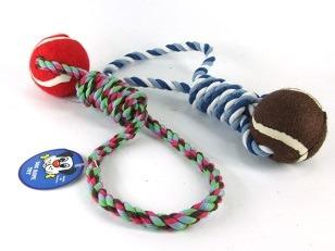 cumpără Веревочная игрушка с мячом, разные цвета în Chișinău