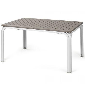 Стол раздвижной Nardi ALLORO 140 EXTENSIBLE TORTORA-vern. Bianco 42753.10.000 (Стол раздвижной для сада и террасы)