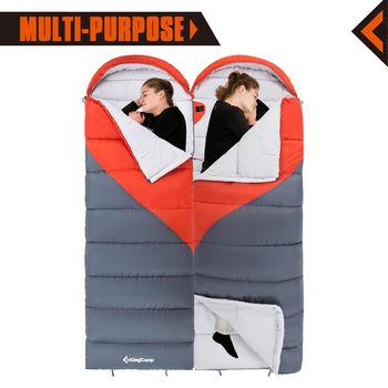 купить Спальный мешок KingCamp KS3211 Valley 330 (981) ORANGE/GREY в Кишинёве