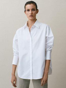 Блуза Massimo Dutti Белый 5137/530/250