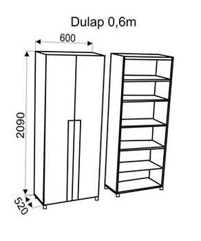 Шкаф Oscar 0,6 м
