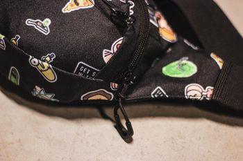 Сумка на пояс Custom Wear Triada Rick and Morty Black (383)