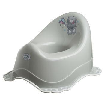 """Oală cu acoperie antiderapantă  """"Bears""""  gri / alb, cod 42501"""