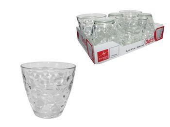 Набор стаканов для воды Dots Acqua 6шт, 260ml, прозрачный