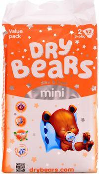 cumpără Dry Bears Slim&Cool 2 Mini (3-6 кг) 52 шт. în Chișinău