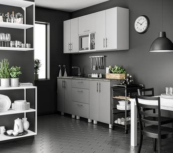 Кухня 1800 МДФ Light dark grey