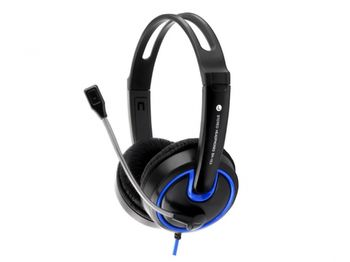 Esperanza EH153B Blue, Stereo headset with microphone, 2 x mini-jack 3.5mm, with Volume control, 2 m cable lenght