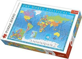 """Пазлы """"2000 -""""Political map of the world"""", код 42187"""