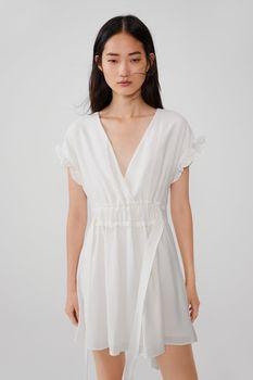 Платье ZARA Слоновая кость 8342/110/251