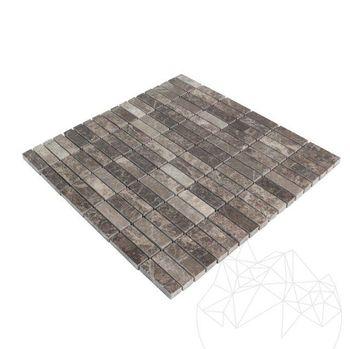 купить Мозаика Мрамор Темный Император Полированный 4.8 x 1.5 см в Кишинёве