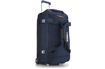 THULE Travel Bag - Crossover 87L Rolling Duffel, Dark Blue, Safe-zone, Dobby Nylon, Dimensions 44 x 42 x 79 cm, Weight 4.3 kg, Volume 87L, Gear bag with a wide mouth access to easily load helmets, boots, gloves, jackets and other travel essentials