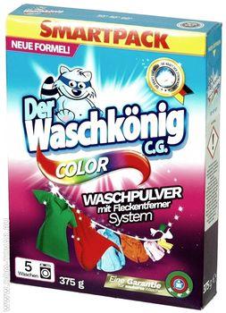 Стиральный порошок Der Waschkonig Color для цветного белья, 375 гр.