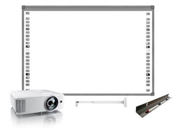 SET VIDEOPROIECTOR OPTOMA X308STE SHORT THROW+ SUPORT PROIECTOR CT-PRB-8M + TABLA Interactiva SMART Board SB480 (language-RO), inclusiv instalarea si setarea.