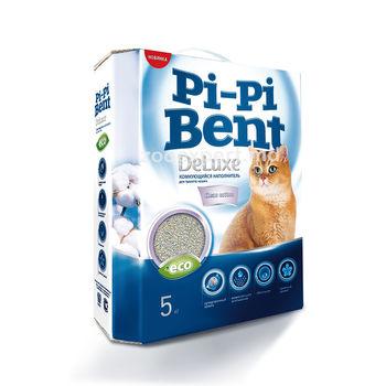 """cumpără Pi-Pi-Bent umplutură igienică """" DeLuxe Clean Cotton""""  5 kg în Chișinău"""
