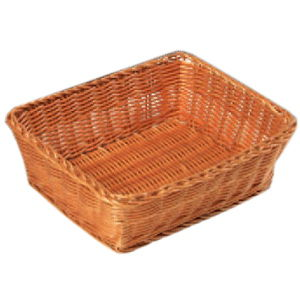 купить Корзина плетеная для хлеба прямоугольная 28x20x11.5см 17837 в Кишинёве