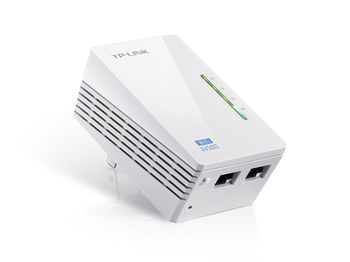 TP-LINK TL-WPA4220  N300 AV500 Wireless Powerline Extender, 300Mbps 2.4GHz, 802.11n/g/b, Passive PoE Supported, Up to 500Mbps for HD Video Streaming, Wireless Radio,WMM, Wireless Statistics, Wi-Fi Clone, 2*10/100Mbps Ethernet Port