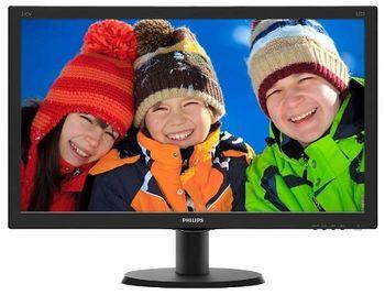 "23.8"" PHILIPS IPS LED 240V5QDAB Glossy Black (5ms, 20M:1, 250cd, 1920x1080, HDMI, DVI, Speakers)"