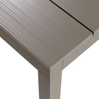 Стол металлический раздвижной Nardi RIO ALU 140 EXTENSIBLE vern. tortora vern. tortora 48659.10.000 (Стол металлический раздвижной для сада и террасы)