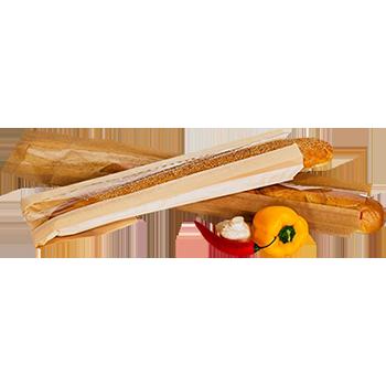 Бумажный Пакет 10*40 багет с окошком