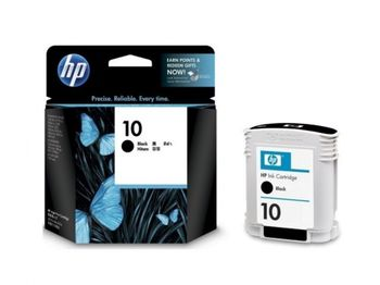 HP №10 Large Black Ink Cartridge, 69ml, 1400 pages at 5% with HP 2000C/2500C/CM, 1750 pages at 5% with HP Business Inkjet 2200/2250
